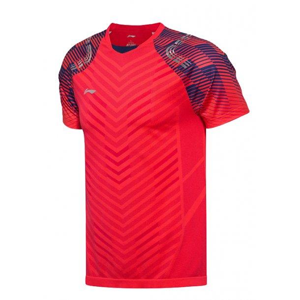 Badminton T-Shirt - All England 2018 E Red Nation 001