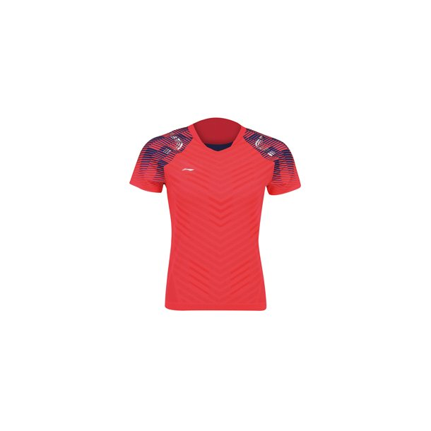 Badminton T-Shirt - All England 2018 E Red Nation W 002