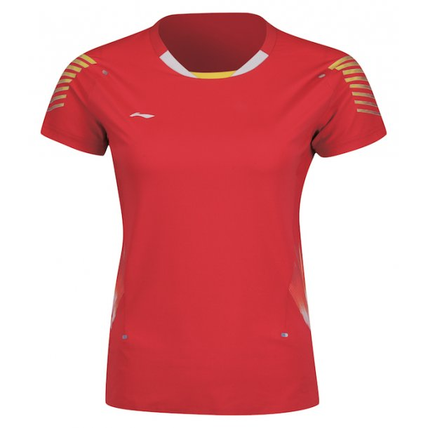 Badminton T-Shirt - VM 2018 E Red W/K 006