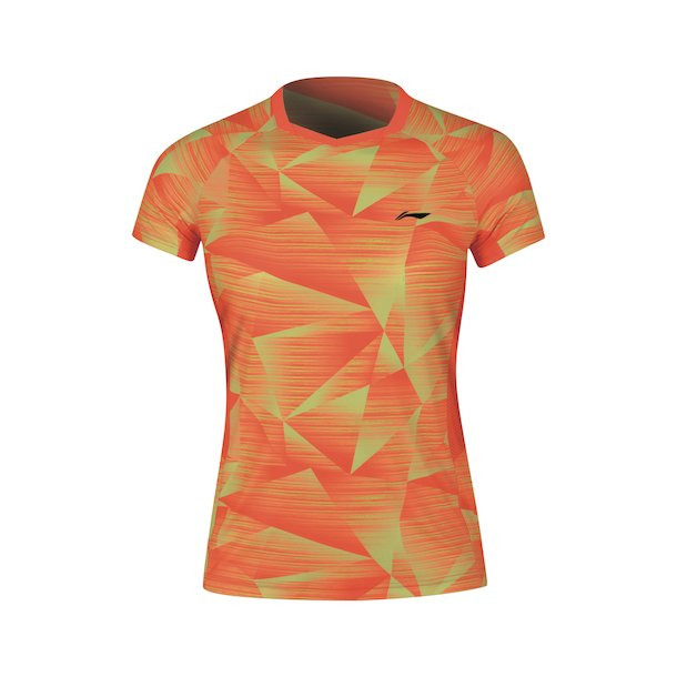 Badminton T-Shirt - Pyramids Orange W 074