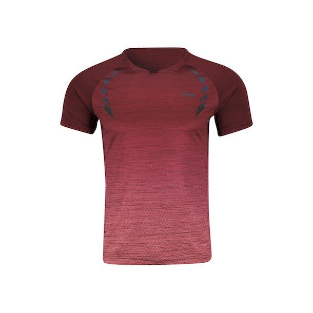 Badminton T-Shirt - Hexago Bordeaux 307