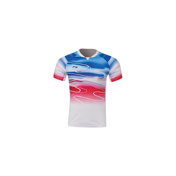 Badminton T-shirt - Sudirman 2019 White/Red 071