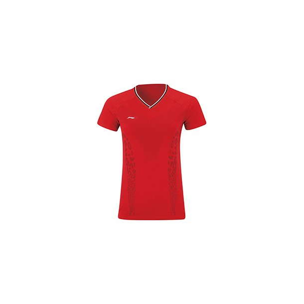 Badminton T-shirt - Red Leopard VM-2019 W