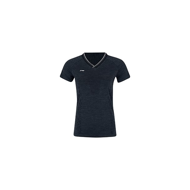 Badminton T-shirt - Black Leopard VM 2019 W