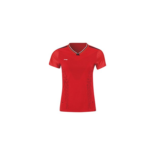 Badminton T-shirt - Red Leopard VM-2019 E W