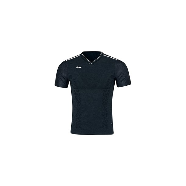 Badminton T-shirt - Black Leopard VM 2019 E