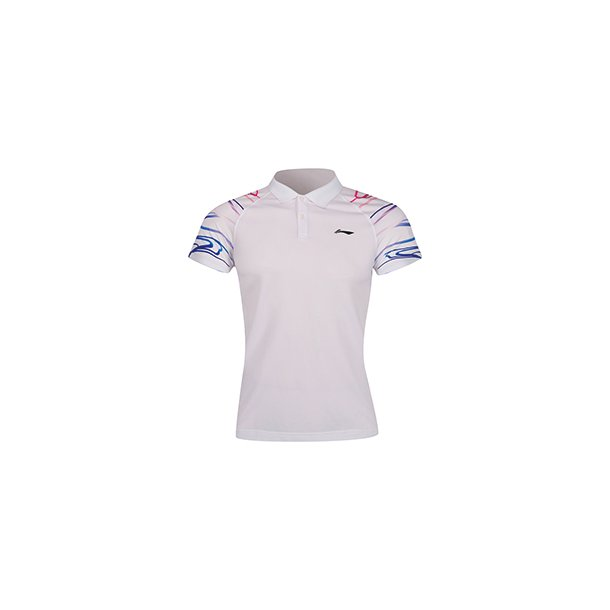 Badminton T-shirt Surdirman Polo White W
