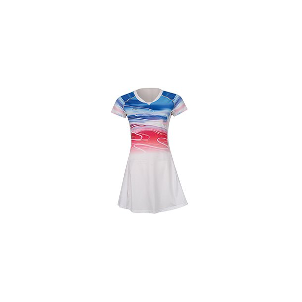 Badminton Dress - Sudirman 2019 White/Red 068