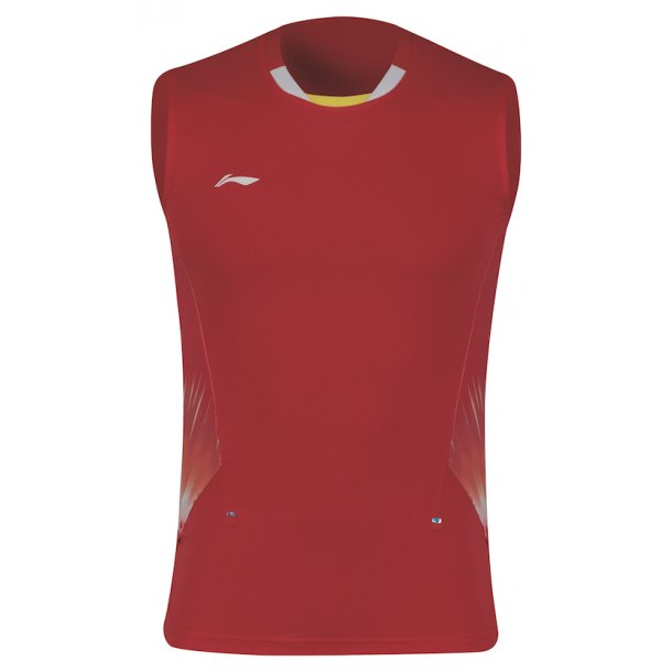 Badminton T-Shirt - VM 2018 Tank Top Red 293