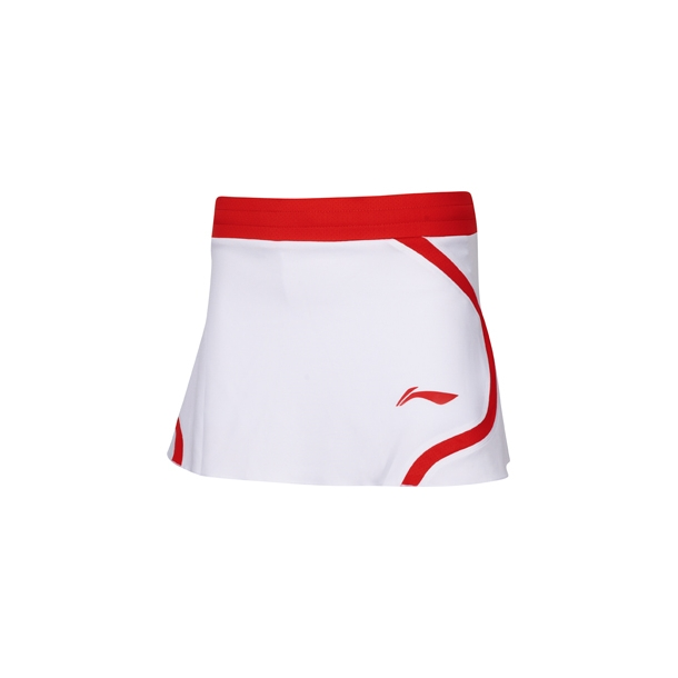 Badminton Skirt - White/Red 012