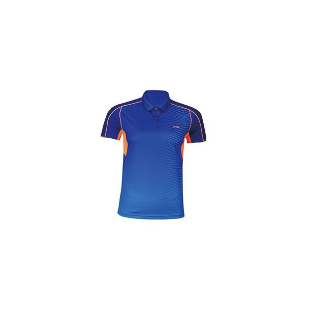 Badminton Polo - Blue/Orange 289