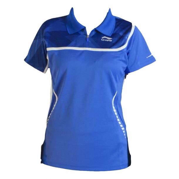 Badminton Polo - Blue & Blue W 014