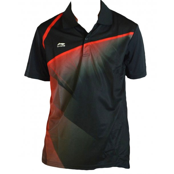Badminton Polo - Black/Red W 234