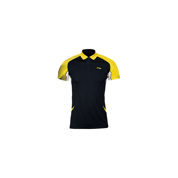 Badminton Polo - Black/Yellow krave W 148