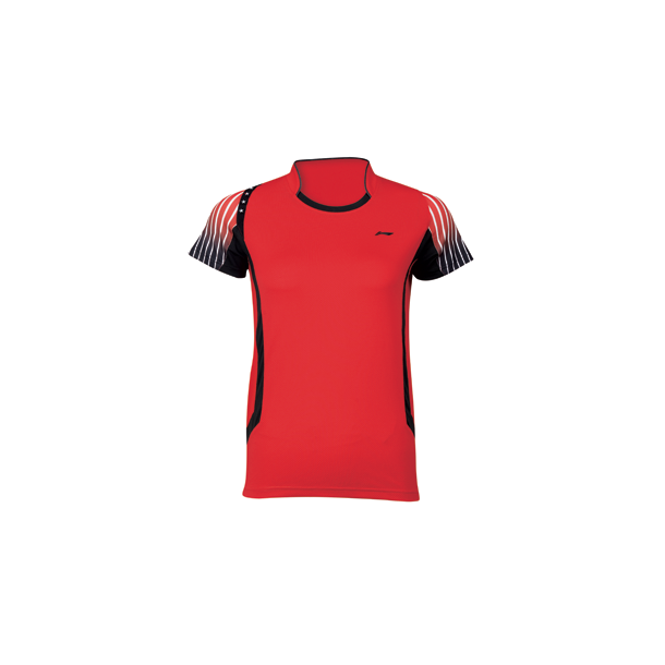 Badminton T-Shirt - VM 2014 Kids Red 146