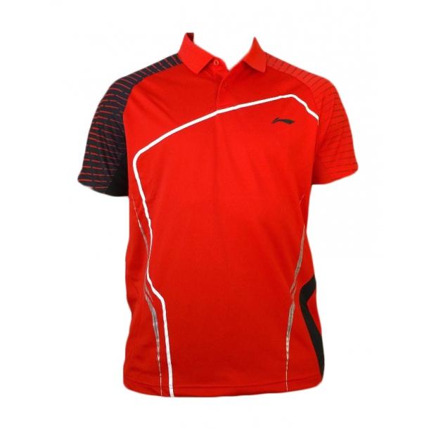 Badminton Polo - Red sticks B 192