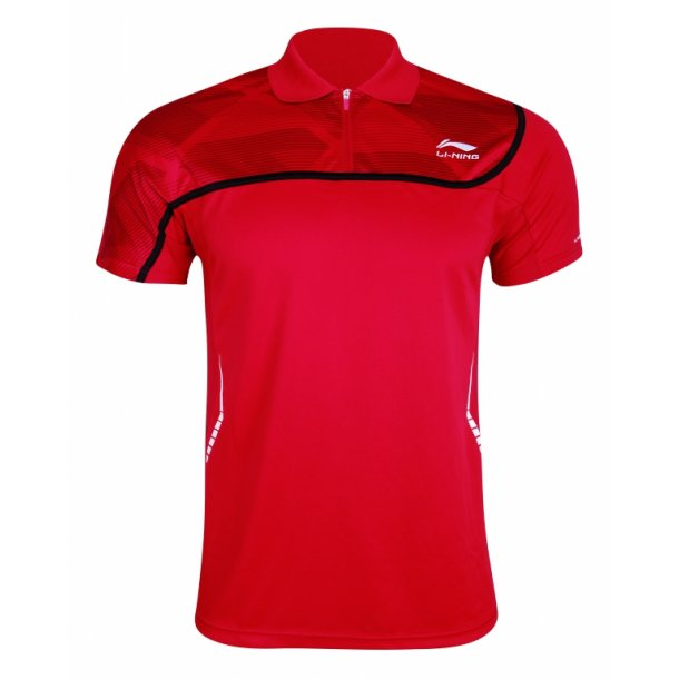 Badminton Polo - Red & Red 049